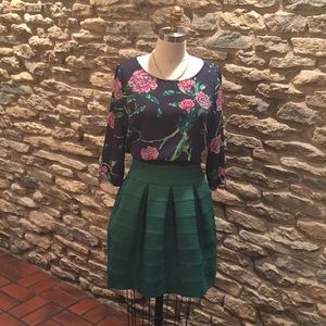 Anthropologie Eira Blouse and Bell Ponte Skirt
